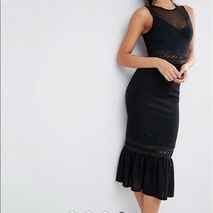 Black midi ASOS dress